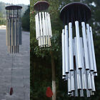 27 Tubes Outdoor 3/ 10 Bells Tube Church Silver Hanging Wind Chimes Garden Decor