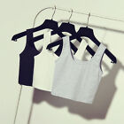 New Sexy Womens Scoop Neck Crop Belly Top Vest Sleeveless Shirt Blouse Tank
