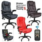 6 Point Designed Massage Office Computer Chair Luxury Leather Swivel Reclining