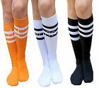 AM Landen®Ladies Super Cute Triple Stripe Knee-High Socks