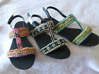 WOMANS LADIES SUMMER BEACH HOLIDAY SANDALS LARGE SIZES INCLUDED  8 9 10 11