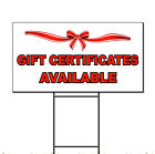 Gift Certificates Available Business Corrugated Plastic Yard Sign /FREE Stakes