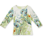 Collections Etc Women's Floral Sequin Spring Garden Top