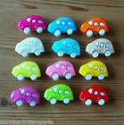 4 - Novelty Buttons - Beetle Car - 25mm - Baby & Kid's - Knitting/Sewing/Cards