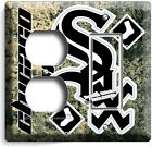 CHICAGO WHITE SOX BASEBALL LIGHT SWITCH POWER OUTLET WALL PLATE COVER HOME DECOR