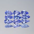 5x3mm Lot 1,2,6,10pcs Pear Cut Calibrated Natural Gem Violet Blue Tanzanite