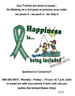 T-shirt - Support CEREBRAL PALSY Awareness - Happiness is being Included