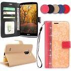 For LG G Stylo / Stylus LS770 Classic Flower Flip Leather PU Wallet Stand Case
