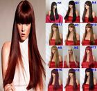 "25"" Straight Wig Stylish Full Head Party Wigs Hair Women Wig Heat Resistant"