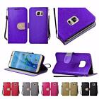 For Samsung Galaxy S7 G930 Shiny Premium PU Leather Bling Wallet Cover Case