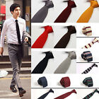 Men's Solid Tie Knit Knitted Tie Necktie Narrow Slim Skinny Woven