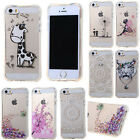 Fashion Patterned Hollow Shockproof TPU Back Case Cover Skin For Phone
