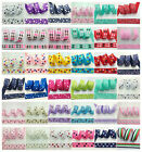 Free Shipping 5 Yards 1Inch (25mm) Printed Grosgrain Ribbon Hair Bow DIY Sewing