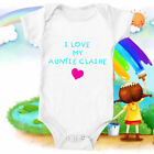 Personalised Custom ANY NAME Bodysuit Baby Vest Cute Gift Auntie Funny #09