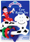 Cartoon Cow Character Baby Rattle Teething Ring Farm Animal Toddler Infant