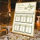 LUXURY Personalised Wedding Table Plan- BUTTERFLY-BUTTERFLIES-4 COLOUR OPTIONS