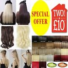 "24"" Long Hair Extensions Synthetic Hairpieces Half Head human favored"