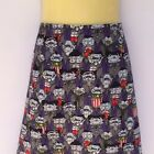Vampire Print A Line Skirt - ladies sizes avail, goth, ghoul, horror
