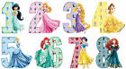 PRINCESS BIRTHDAY NUMBER AGE PERSONALISED IRON ON T-SHIRT FABRIC HEAT TRANSFER