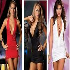 Sexy Women Lady Casual Sexy Halter Party Evening Cocktail Short Red Black dress