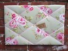 Clarke & Clark English Rose Fabric Sage Pin/Memo/Notice Board Cork SMl LG XL