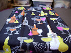Halloween Wicked Wine Gobblets Bottles Spider Web Whole Kitchen Towel