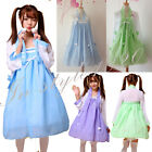 Cute little bear Cosplay Lolita Maid Outfit Costume Dress Tops+ Skirt Belt Hanfu