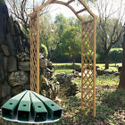 WOODEN GARDEN ARCH PERGOLA TRELLIS PLANT SUPPORT ARCHWAY FLOWERS GROUND SPIKES