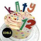 Letter & Number Edible Rice Paper Birthday Cake & Cupcake toppers | Party