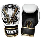 Tuff Muay Thai Boxing Gloves MMA Snake White Kick Boxing Leather
