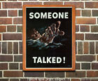 Someone Talked! - US WWII Propaganda Poster ww2