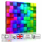 3D ABSTRACT DEPH BOXES COLOURFUL CANVAS WALL ART FRAMED PRINT PICTURE HOME DECOR