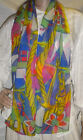Sailing Theme Scarf & Butterflies Multi-color Animal Print Polyester Sheer
