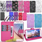 For Samsung Galaxy S6 - Wallet Leather Case Flip Cover Book + Screen Protector
