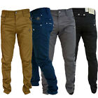 Crosshatch Kractus Mens Jeans Twisted Multi Pocket Cinche Slim Fit Denim Chinos