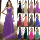 2015 Bridesmaids Dresses Long One-Shoulder Evening Prom Gown Dress Size 6-26