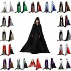 NEW Velvet Hooded Cloak Halloween Wedding Witchcraft Cape Shawl Sca 13 Colours