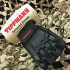 NEW Tippmann Armored Tactical Half Finger Paintball Airsoft Gloves - Black