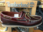 Men's Timberland Classic Leather Boat Shoes Root Beer Brown 25077 Medium