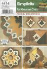 Simplicity 4414 Quilted Holiday Decorations   Sewing Pattern