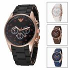 Men's Business Casual Quartz Watch Silicone Analog Wristwatch Noctilucent