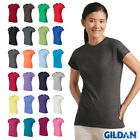Gildan Womens Junior Fit Soft Style T-Shirt Plain Basic Tee