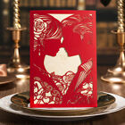 Red Free Personlized Wedding Invtations With Bride and Groom Design, Envelopes