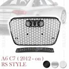 RS6 HONEYCOMB FORNT MESH HOOD GRILLE for AUDI A6 S6 C7 12-ON 3 VERSIONS