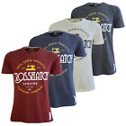 Crosshatch Dewhurst Mens T Shirt New Cotton Vintage Print Short Sleeved Tee Top