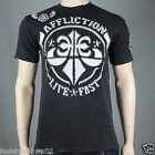 Affliction  STACKER A7433 Men's T-shirt Tee Black Lava Wash