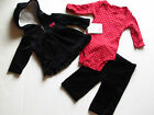 NWT Carter's Baby Infant Girl 3 Piece Holiday Valentine Set Black Red White