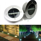 3 LED Solar Powered Underground Buried Light Lamp Way Road Garden Decking Light
