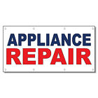Appliance Repair Blue Red 13 Oz Vinyl Banner Sign With Grommets photo