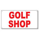 Golf Shop Red 13 Oz Vinyl Banner Sign With Grommets